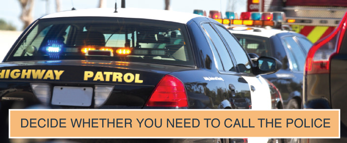 how to call police after car accident